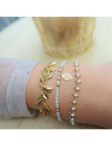 Bracelet en plaqué or - Filaé