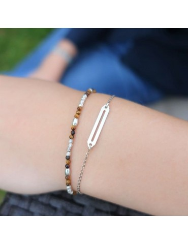 Bracelet minimaliste en Argent 925 Aloe Bijoux