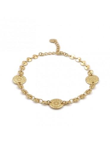 Bracelet Médailles martelées en plaque or - Galia Aloe Bijoux