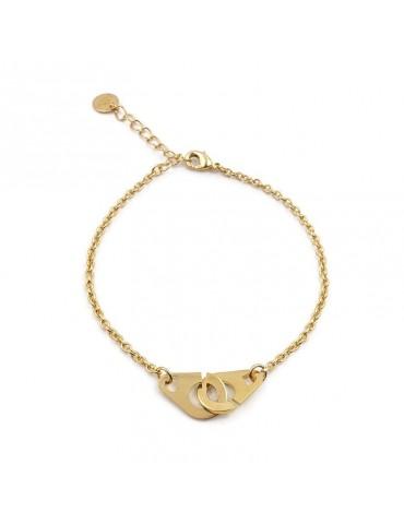 """Bracelet """"Attrape-moi"""" en plaqué or Aloe Bijoux"""