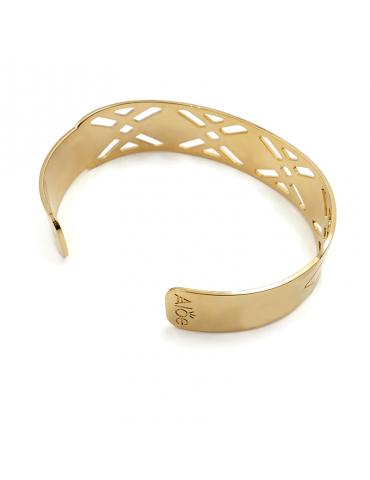 Bracelet manchette en Plaqué or - Losange Aloe Bijoux