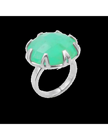 Bague Chrysoprase en Argent 925 - Mint Green