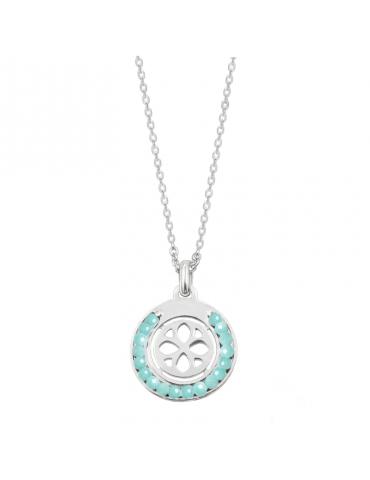Collier cercle en perles Amazonite et Argent 925