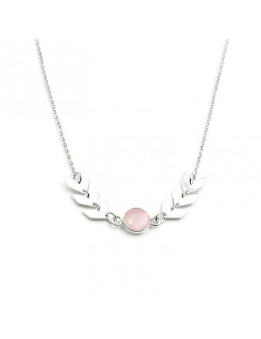 Collier Quartz rose et Argent 925 - Antica