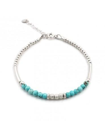 Bracelet Turquoise et Argent 925 - Kaé Aloe Bijoux