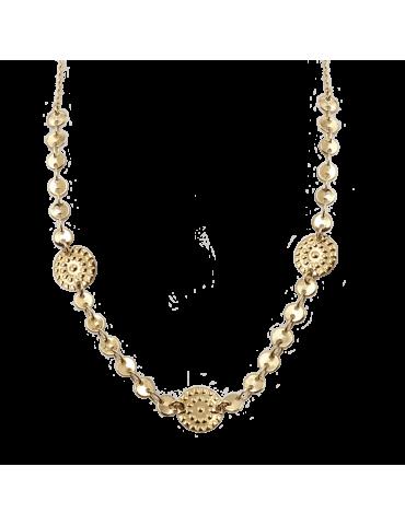 Collier avec médailles martelées en plaqué or - Galia