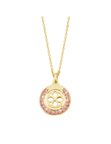 Collier cercle en Rodochrosite en Plaqué or