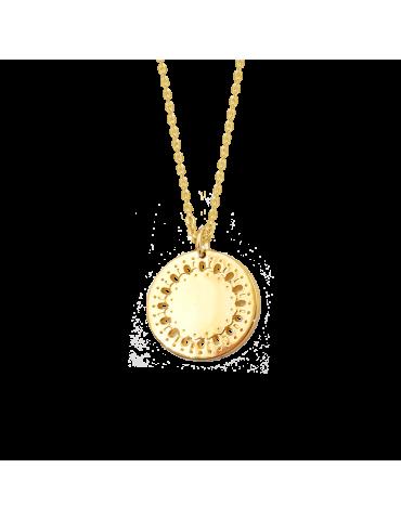 Collier médaille ajourée en Plaqué or