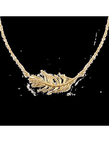 Collier Plume en plaqué or