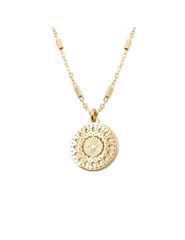 Collier Médaille Dentelle en plaqué or