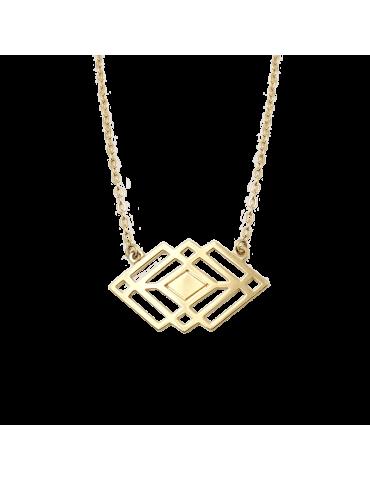 Collier motif Losange Plaqué or