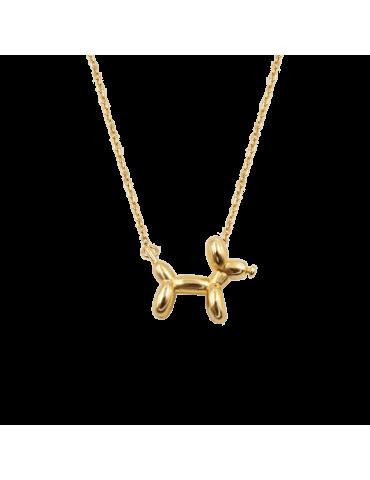 Collier Dog en plaqué or