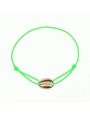 Bracelet Cordon avec motif coquillage en Plaqué or
