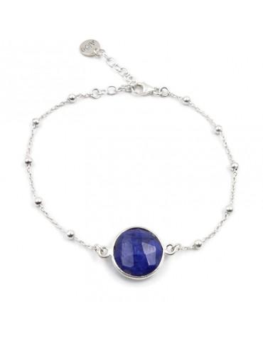 Bracelet Cyanite ronde et Argent 925