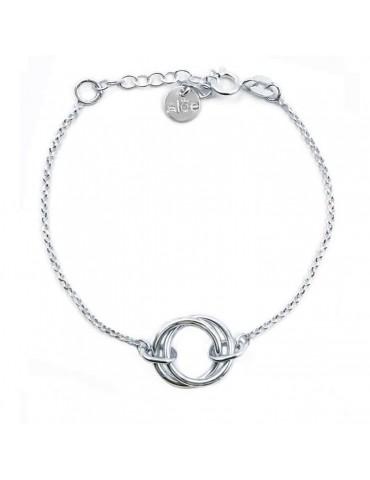 Bracelet Double Anneau en Argent 925