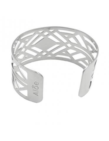 Bracelet manchette large en Argent 925 - Losange