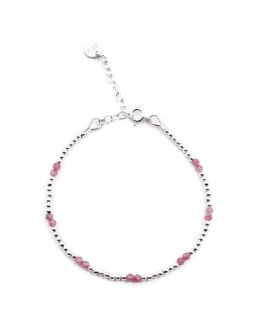 Bracelet Tourmaline rose et Argent 925 - Naïa Aloe Bijoux