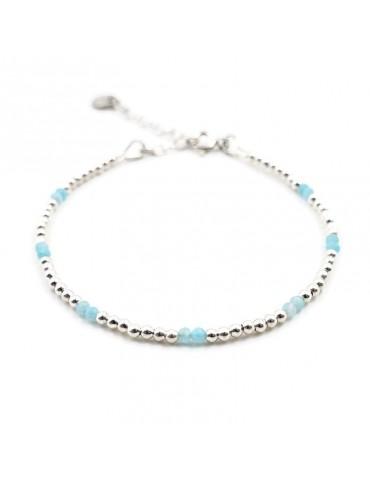Bracelet Amazonite et Argent 925 - Naïa