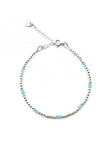 Bracelet Amazonite et Argent 925 - Naïa Aloe Bijoux