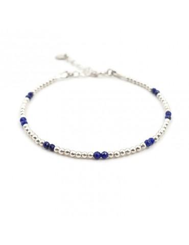 Bracelet Lapis Lazuli et Argent 925 - Naïa
