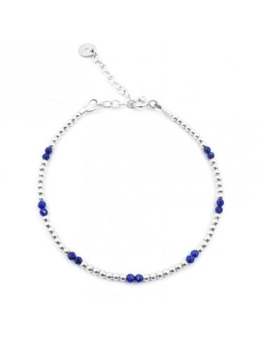 Bracelet Lapis Lazuli et Argent 925 - Naïa Aloe Bijoux