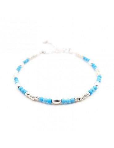 Bracelet Turquoise et Argent 925 - Zoé