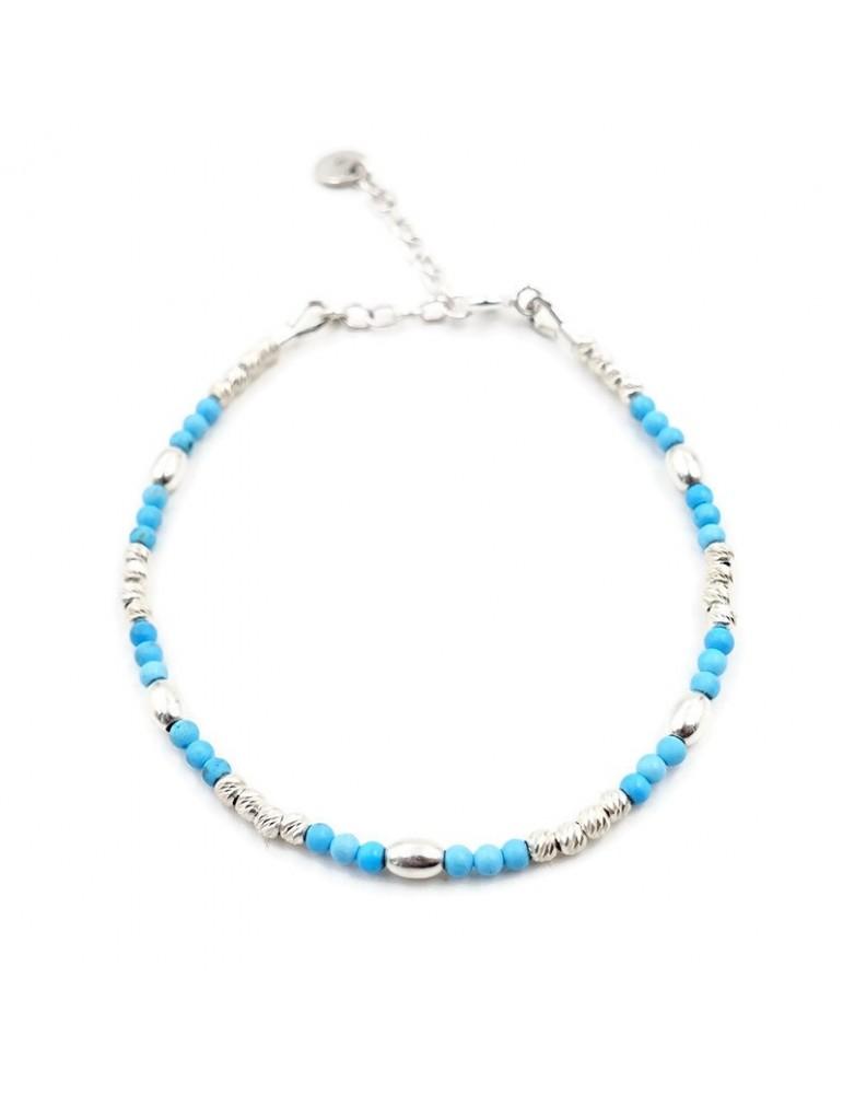 Bracelet Turquoise et Argent 925 - Zoé Aloe Bijoux