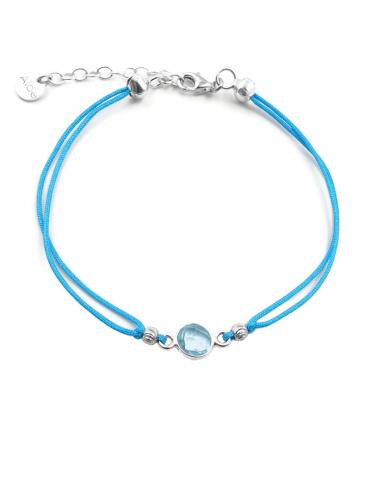 Bracelet Cordon topaze en Argent 925 - Top