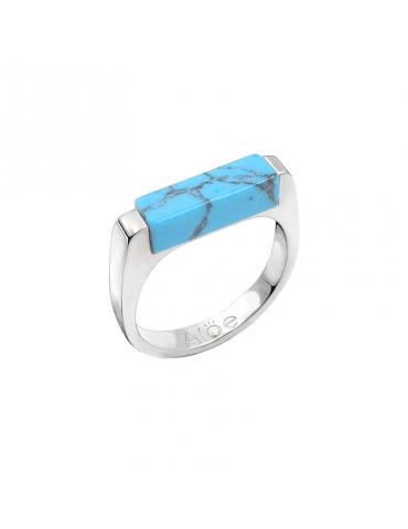 Bague Howlite bleue en Argent 925 - Prisme