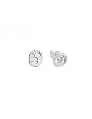 Boucles d'oreilles puces Spirale en Argent 925 Aloe Bijoux