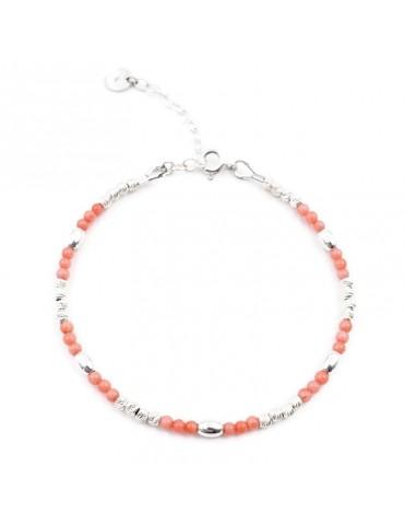 Bracelet Bambou de mer et Argent 925 Aloe Bijoux