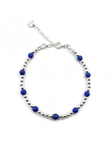 Bracelet Lapis lazuli et Argent 925 - Caly Aloe Bijoux