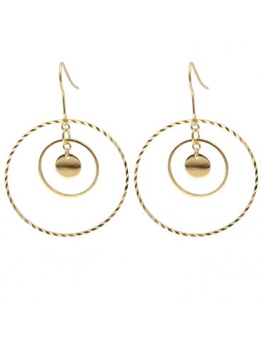 Boucles d'oreilles disques mobiles Aloe Bijoux