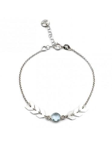 Bracelet Topaze bleue en Argent 925 - Antica Aloe Bijoux